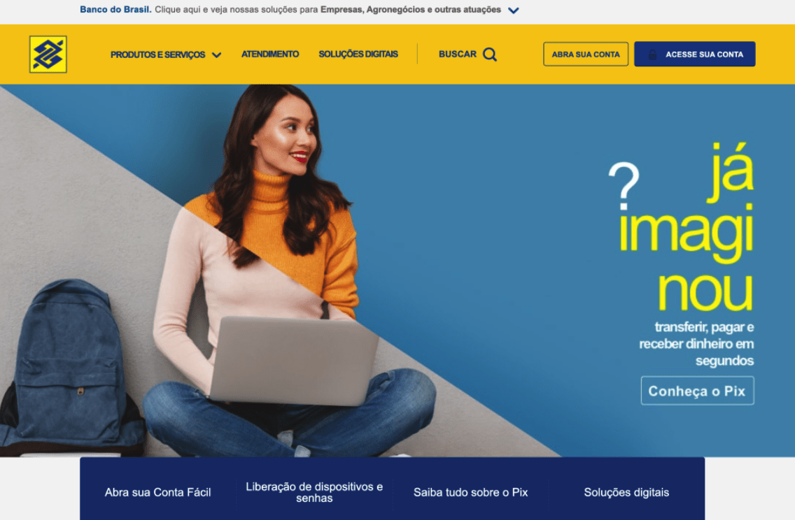 The original Banco do Brasil website