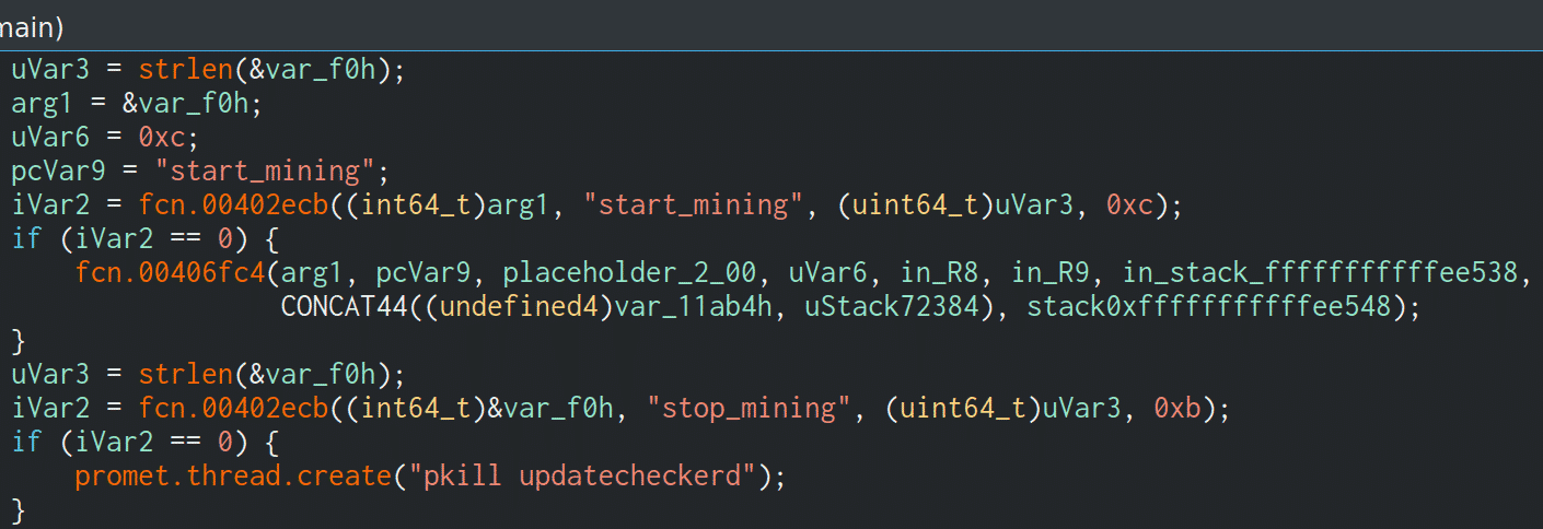 start_mining xmrig updatecheckerd prometei botnet