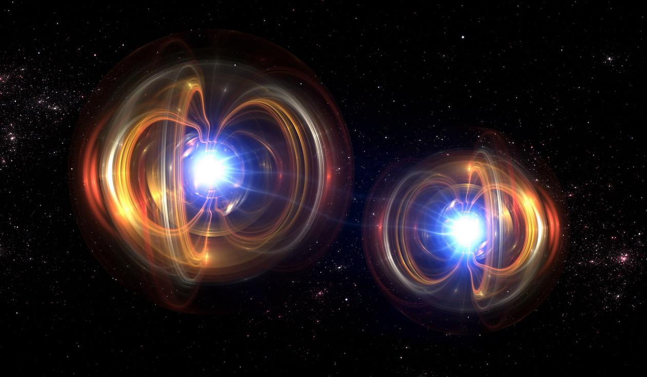 artistic rendering of quantum entanglement