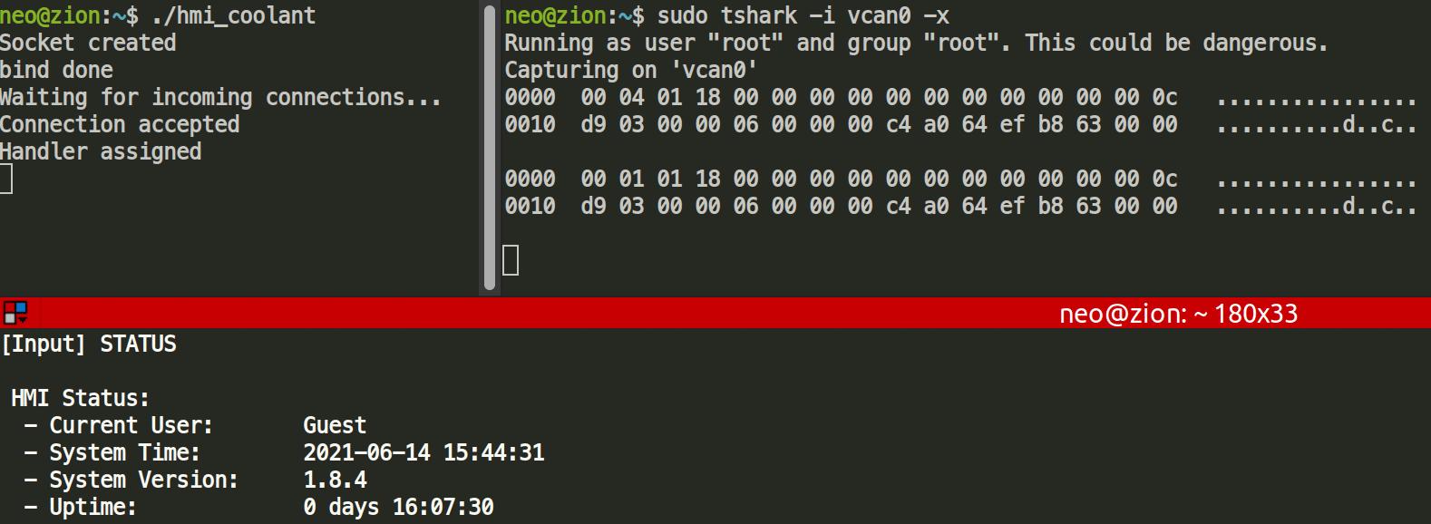 tshark monitoring results
