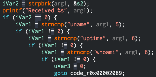 CTF code showing denied strings
