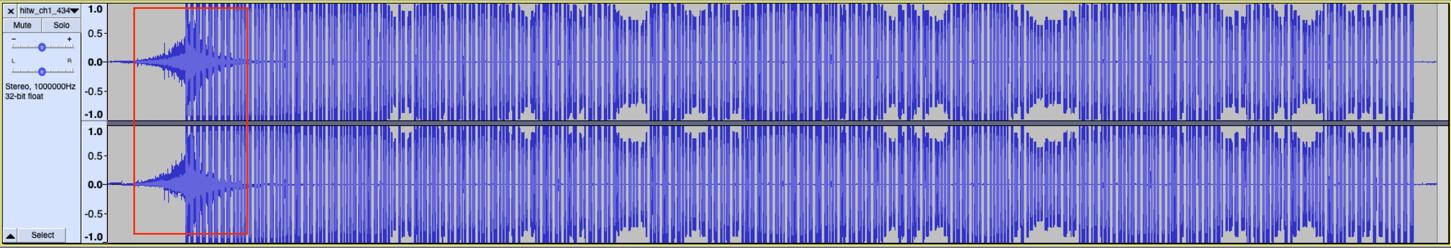 WAV file signal visualization in Audacity