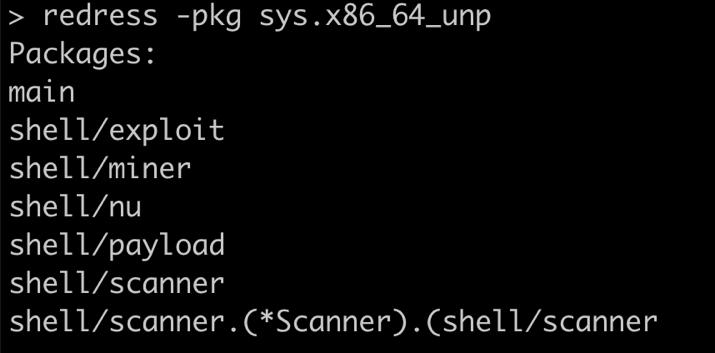 Redress enumerating packages, sysrv botnet